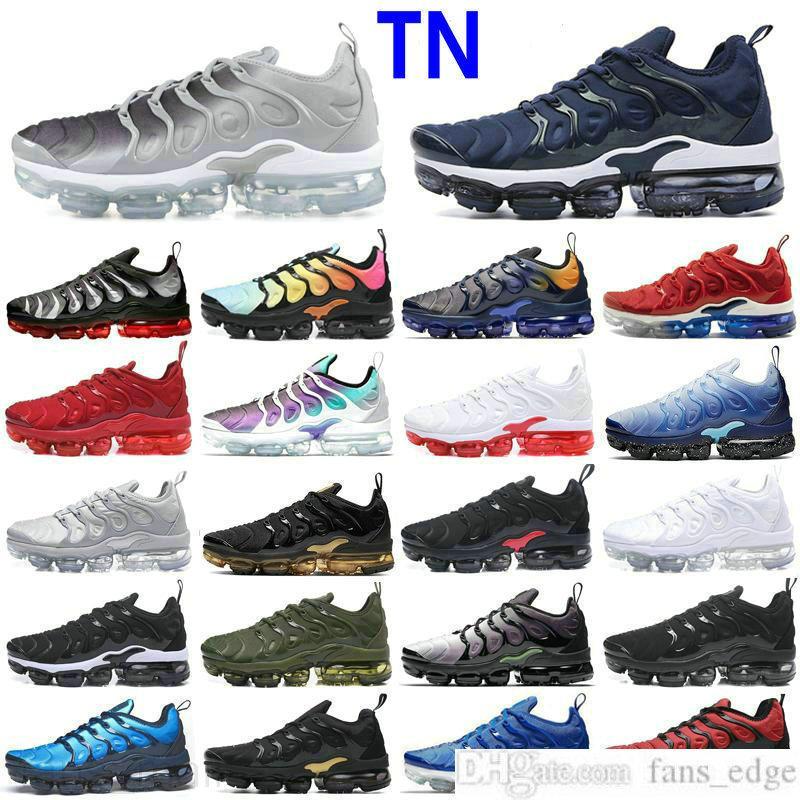Venda profissional TNS mais Sapatos ultra running zebra clássico ao ar livre tn almofada tênis triplo preto branco esportes esportes esportes corredores sneakers sneakers sneakers womans tamanho 36-46