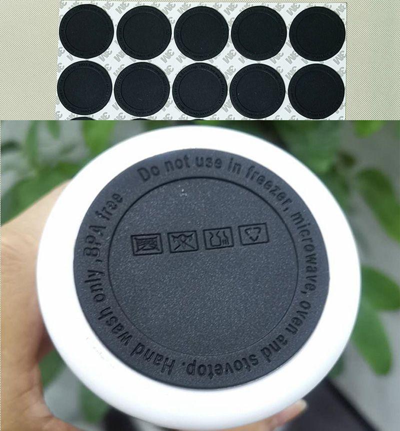 fundo de borracha para 15oz 20oz 30oz skinny copo de coaster preto adesivo coasters de borracha fundo preto fundo preto tampa protetora