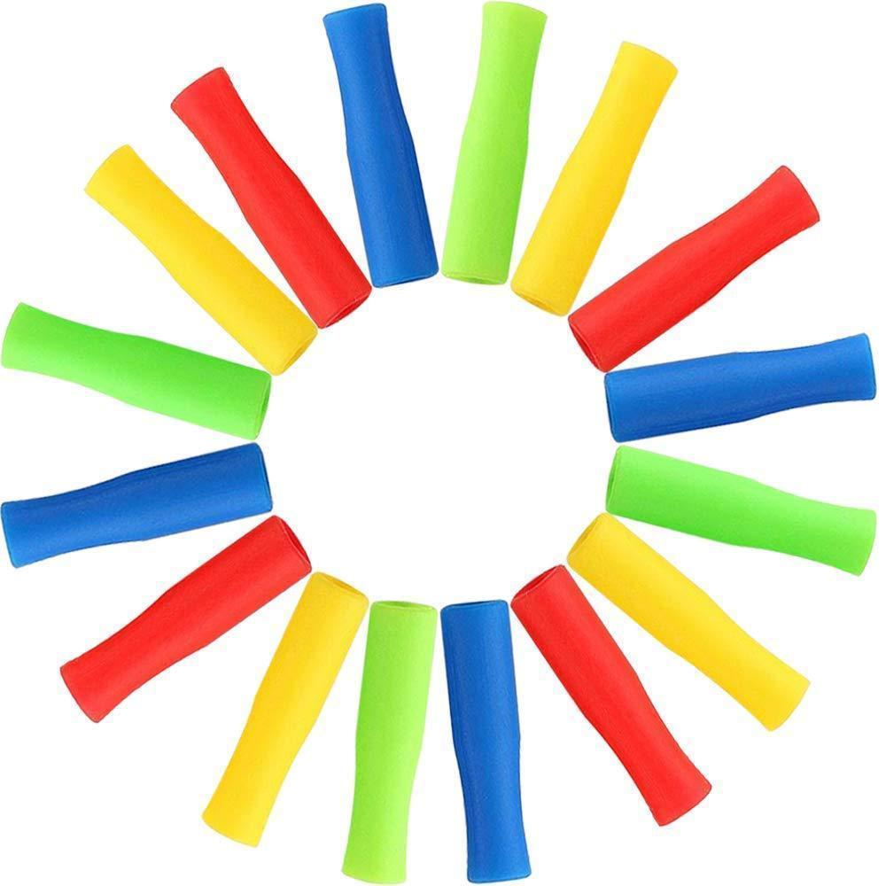 6 색 스테인레스 스틸 빨대 실리콘 슬리브 4cm 여러 가지 빛깔의 내경 6mm 실리콘 슬리브 안티 치아 충돌 HHC7229