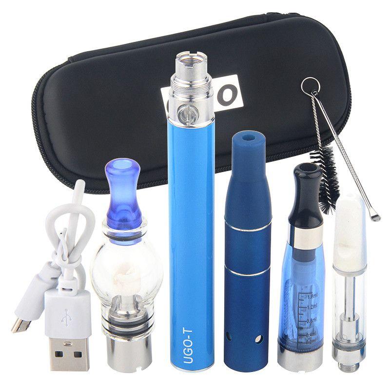 MOQ 5 pcs ego 4 em 1 kits de vaporizador de ervas 650mAh 900mAh 1100mAh 510 bateria multi atomizador de cera de vidro frigideira CE3 Vape Cartucho 4in1 Vaes Caneta Kit