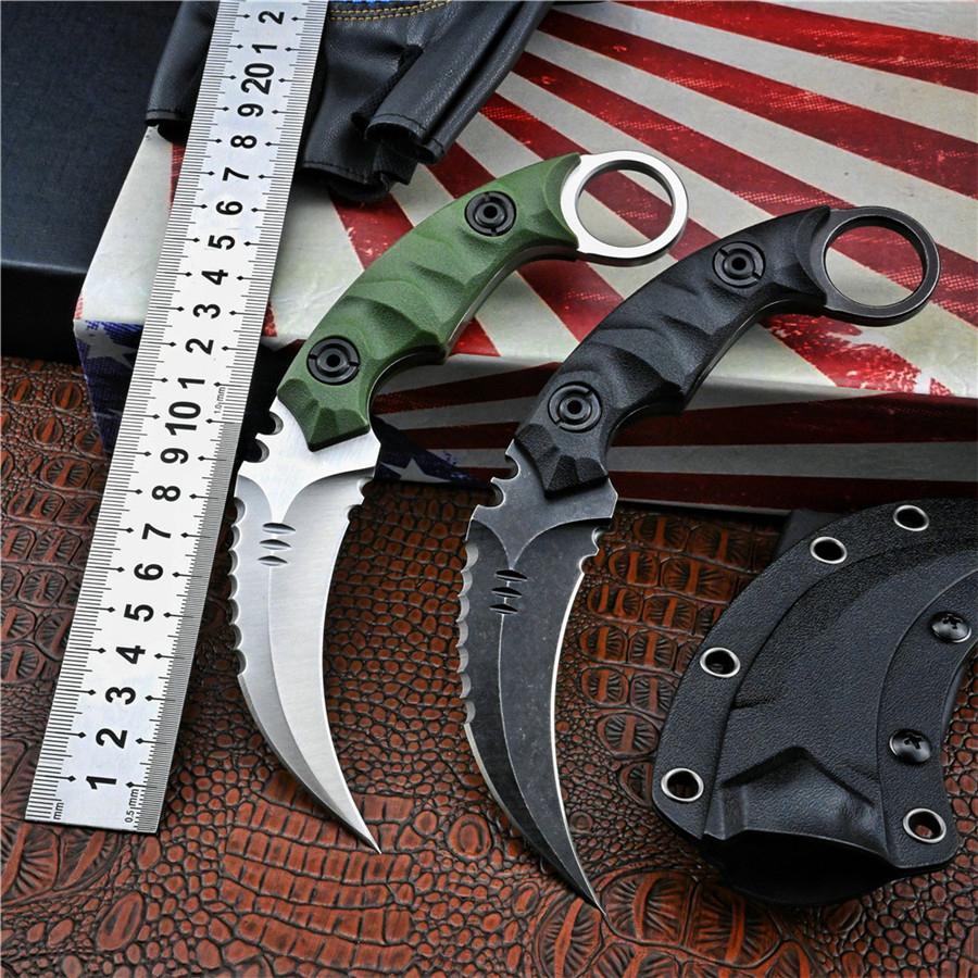 Karambit CSGO Kamp Avcılık Bıçaklar D2 Sabit Bıçak Pocket Bıçak Taktik Askeri Mini Kolay Taşıma Yardımcı Programı Knifes Açık Survival Öz Savunma EDC Araçları