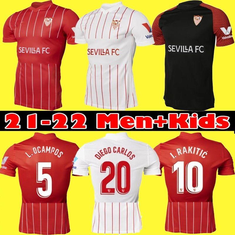 21 22 FC Sevilla Soccer Jerseys 2021 2022 siempre Banega en-nesyri Navas de Jong El Haddadi Reguilon Camisa de Fútbol Hombres Camisetas Futbol