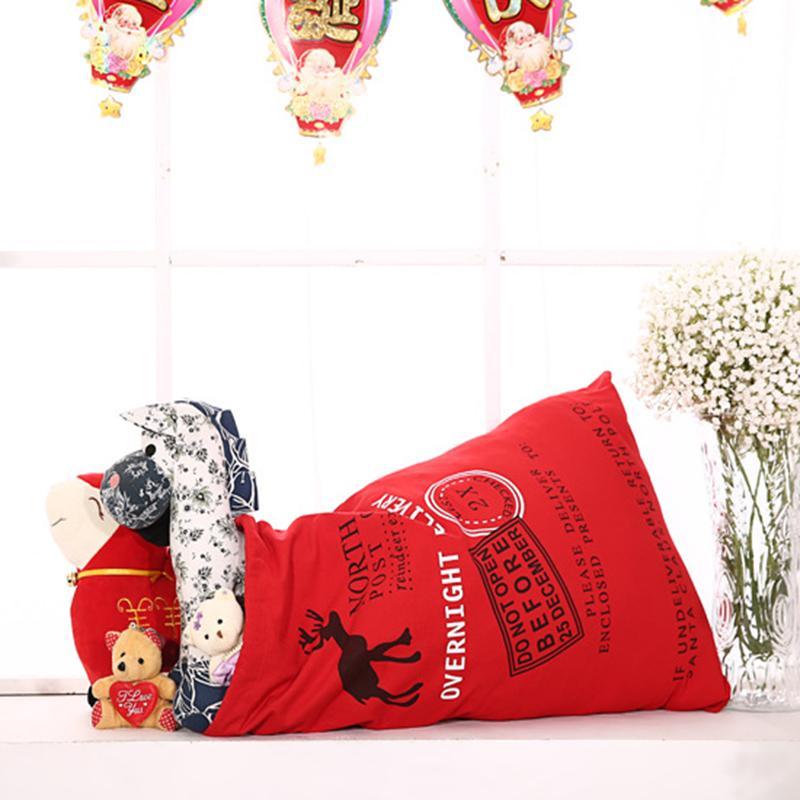 Regalo envoltura algodón bolsa de navidad verano lienzo cordón mochila bolsillo bolsas de bolsas teñido moda protección ambiental zjtl0109