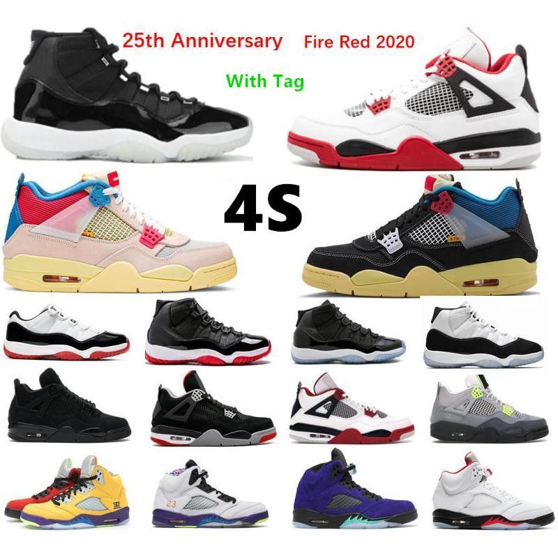 2021 أحذية رجالي كرة السلة 11S اليوبيل 1 1s الجامعة الأزرق 4S أسود القط النار الأحمر 11 الفضاء مربى منخفضة بيضاء ولادة رياضة مدرب
