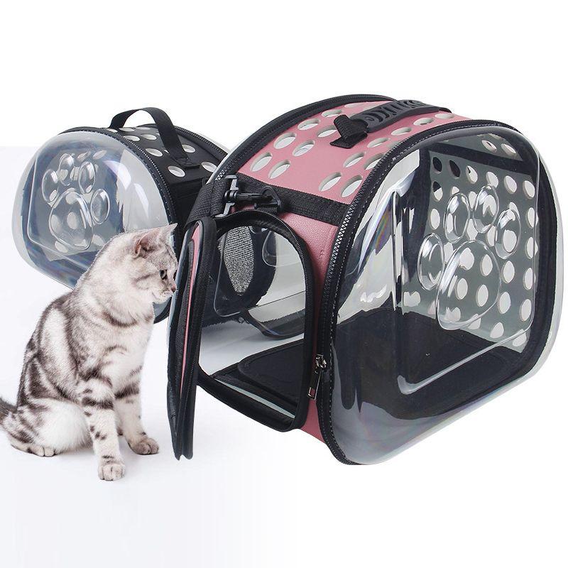 42 * 26 * 35 سنتيمتر الفضاء حقيبة الحاملة القط الكلب شفافة حقيبة يد كبسولة الحيوانات الأليفة حقيبة تنفس الجرو تحمل طوي السفر في الهواء الطلق الاغلاق gkko