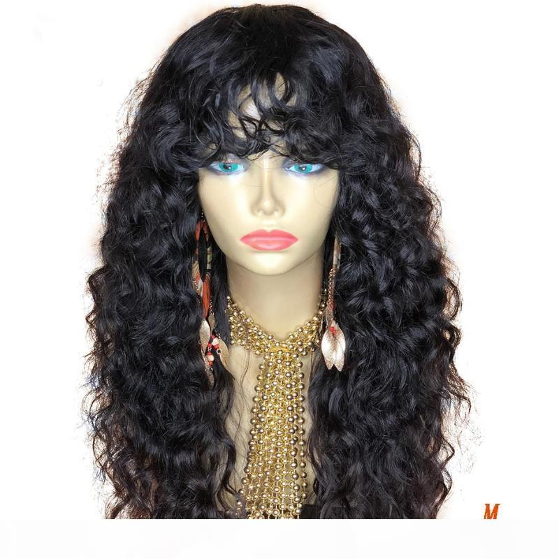 Simbeauty Curly Encaje completo Pelucas de cabello humano con cabello bebé Bob brasil Bob Transparente 13x6 360 Peluca delantera de encaje Remy Fringe WIG
