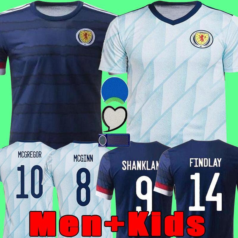 New Scotland Soccer Jerseys Home 2020 2021 Away Robertson Fraser Football Shirt Naismith McGregor Christie Forrest McGinn Men Kids