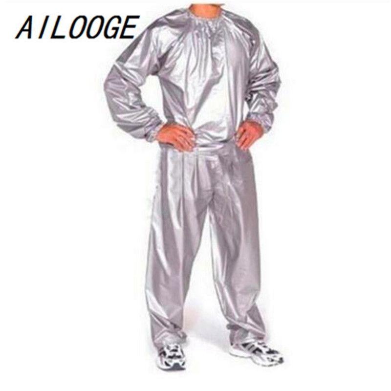 AILOOGE Fitness imperméable Sweat PVC Sweat Sauna Convient à la perte de poids intense anti-RIP 210330