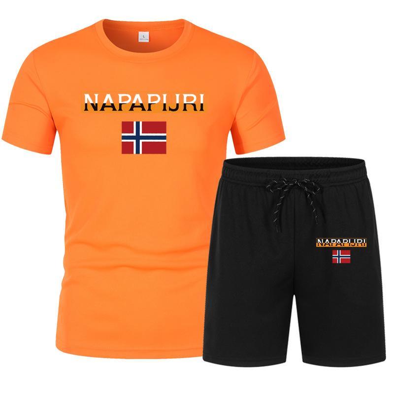 Tasarımcı T Gömlek Polos Yaz Pamuk Hip-Hop Seti erkek Kısa Kollu T-Shirt Ve Şort Moda Marka Grafik Yüksek Kaliteli Eşofman Erkekler