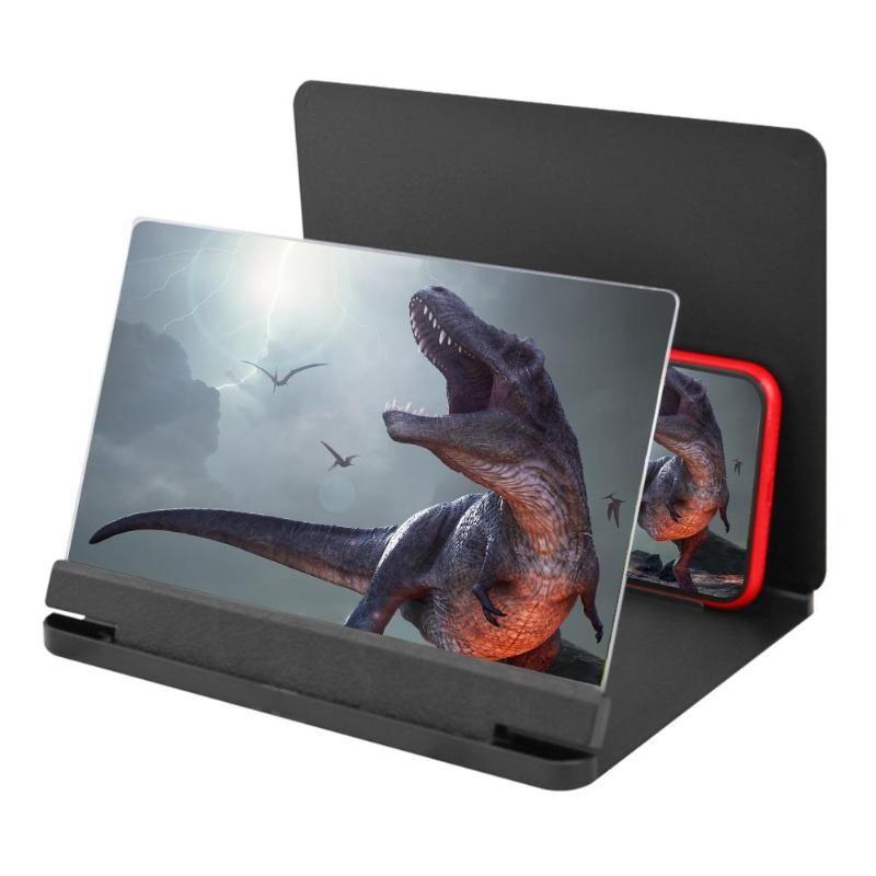 Ekran Video Büyüteç 12 inç Cep Telefonu Kavisli HD 3D Büyüteç Standı Braketi Hücreli Tutucular