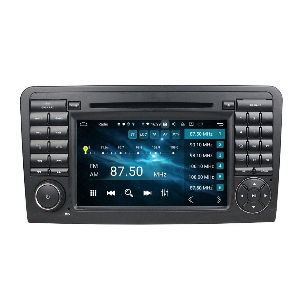 "Carplay Android Auto DSP 2 DIN 7 ""PX6 Android 10 자동차 DVD 스테레오 라디오 GPS Mercedes-Benz ML-Class W164 ML300 / 350 / 450 / 500 GL-Class X164 GL320 / 350 / 420 / 450 / 500"