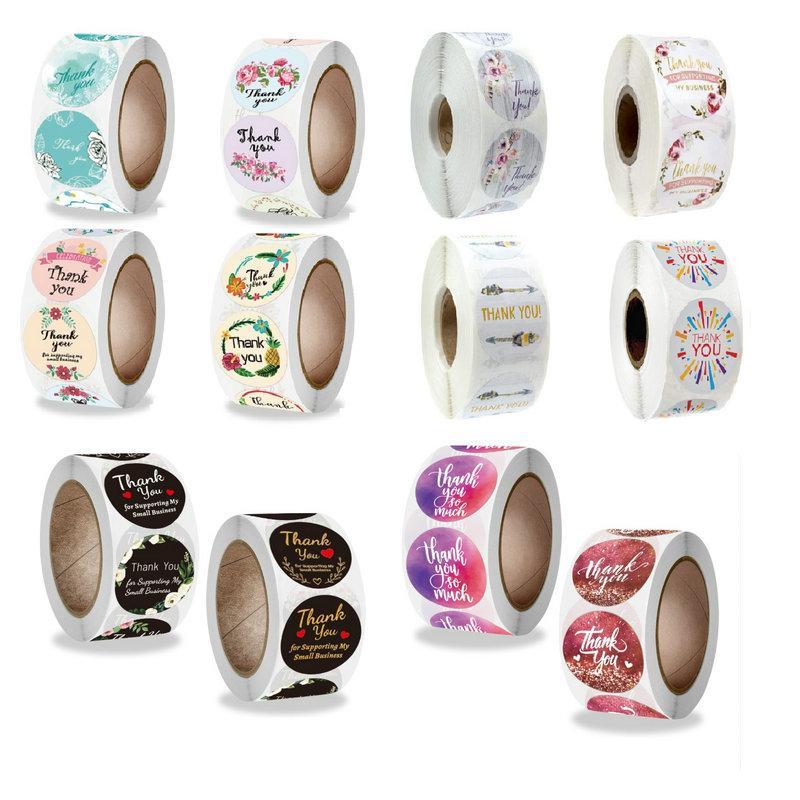 다른 스타일 1 인치 2.5cm 당신에게 스티커 DIY 선물 장식 케이크 베이킹 백 패키지 봉투 인감 레이블