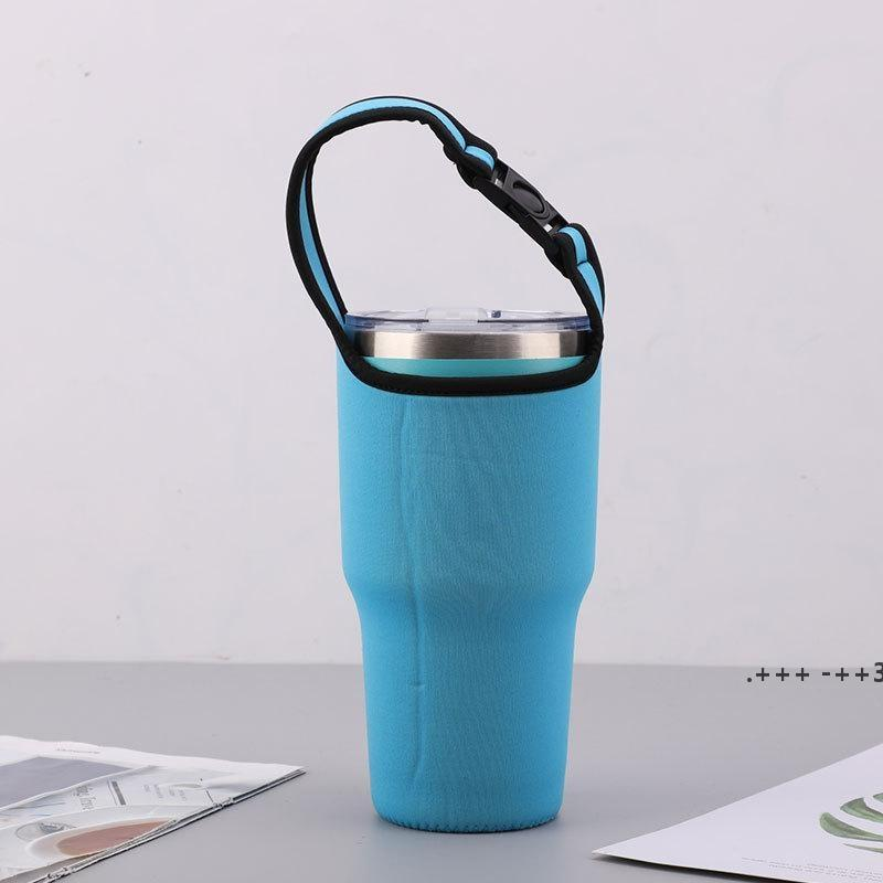 Drinkware Handle Strap Water Bottle Protective Insulation Cup Cover Anti-scald Folding Bag for 30oz FWF10470