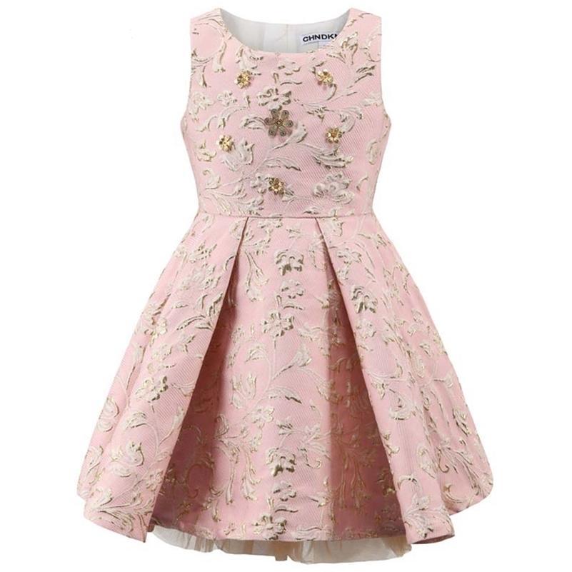 Childdkivy Girls Party платье Детская принцесса платье одежда мяч платья без рукавов детей вечерние платья для девочек 3-10 лет 210331