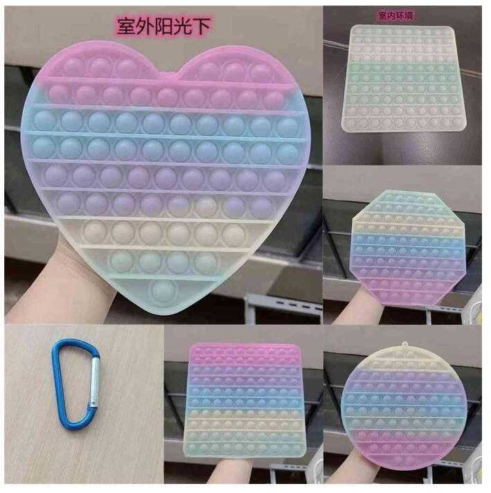 США на складе 20см джамбо пузырь горячий игрушки большие размеры Hidget сенсорные изменения цветов на солнце пузырьки пальца головоломки радуги цветной свет