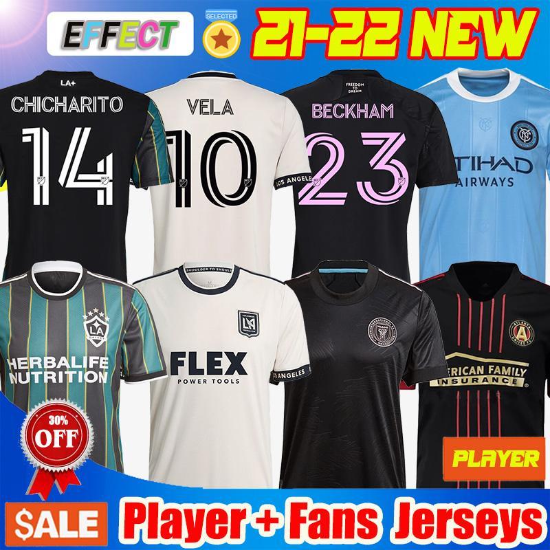 مشغل المشجعين نسخة MLS 21 22 La Galaxy Soccer Jersey Atlanta United FC Football Shirts 2021 2022 Inter Miami CF Chicharito LAFC Vela Home Jerseans Higuain