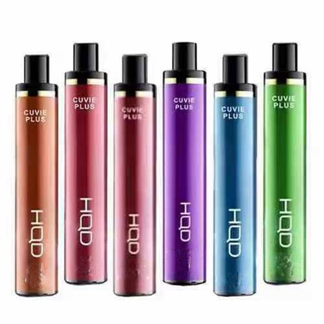 H D Cuvie Plus Pods 1200 Puffs Tek Kullanımlık E-Sigaralar Cihaz Vape Kalem Başlangıç Kitleri 650mAh Pil 5.0ml Kartuş E Sigara Önceden