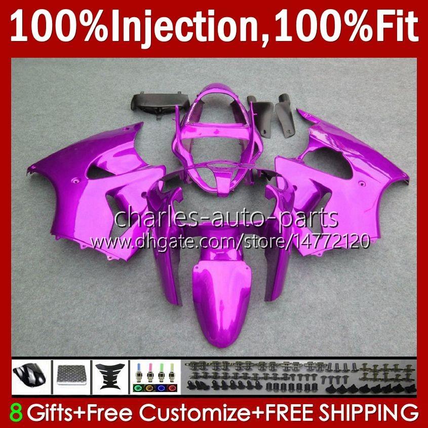 OEM Body Injectie Mold voor Kawasaki Ninja ZZR600 Roze Rose Glossy 05-08 ZX ZZR-600 600 CC 05 06 07 08 Cowling 38HC.27 ZZR 600 600CC 2005 2006 2007 2008 100% Fit Fairing Kit