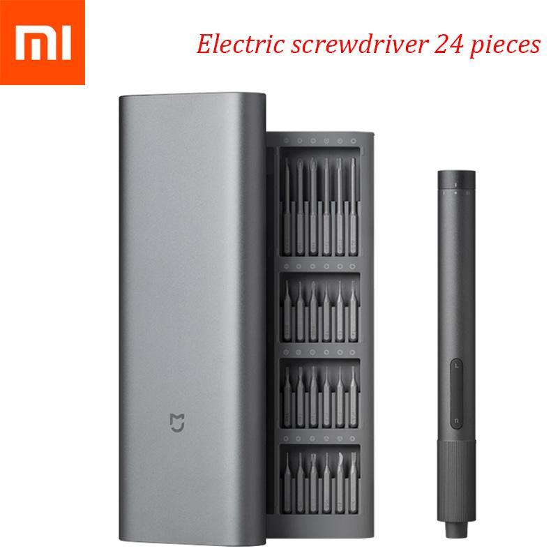 Kit de destornillador Xiaomi MI Juego de herramientas eléctricas Conjuntos de clavijas de precisión eléctrica-kit 2 engranaje Torque 400 Tornillo 1 Tipo-C Caja de aluminio magnético Caja 24 S2