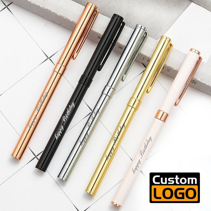 Ballpoint Pens Metal Pen Customized Logo El Advertising Student Stationery Office Supplies Lettering Engraved Name Wholesale