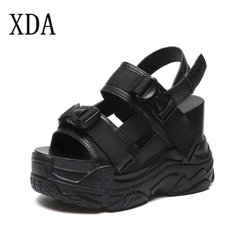 Les femmes Sandals Sandals Summer Fashion Plateforme Coins Chaussures Sandalia Mujer Casual Roman Blanc Black B106