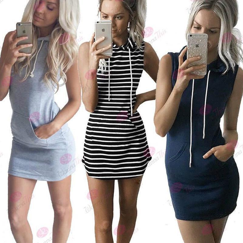 Summer Dress 2021 Hooded Sweatshirt O-neck Sexy Elegant Women Party Dresses Fashion Bodycon Short Package Hips SlimFemale Casual