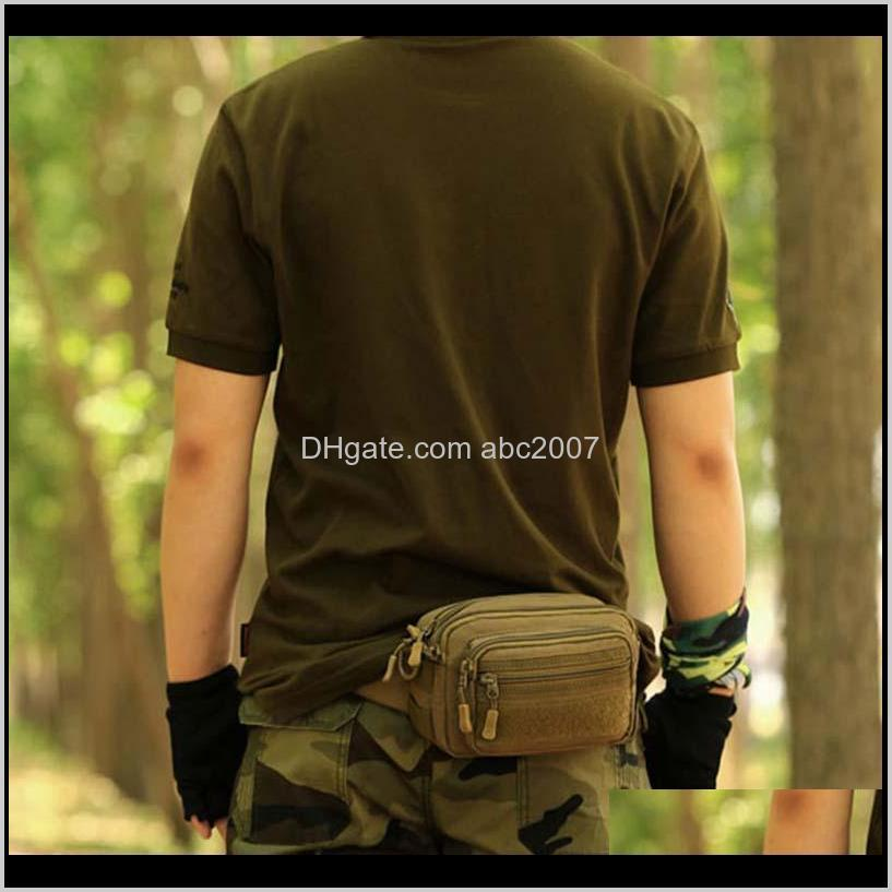 Männer Taille Taschen Nylon Wasserdichte Tasche Fanny Packung Tarnung Reise Fahrradausrüstung Werkzeuge Accessorios Outdoor GFPW9 EYFI