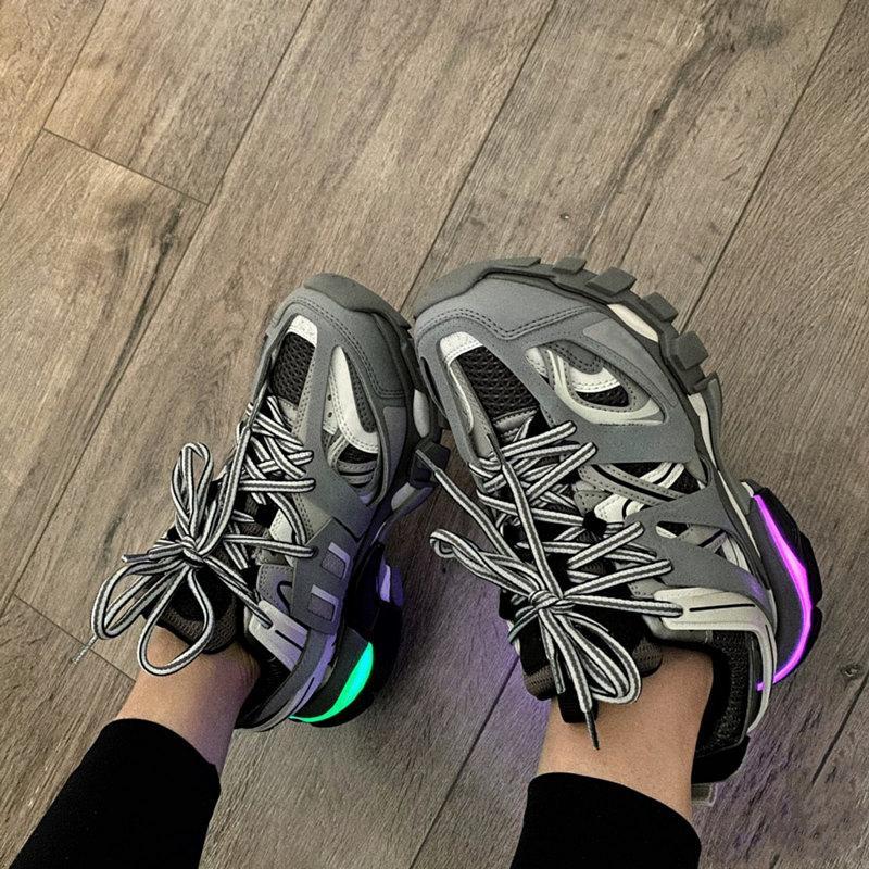 2021 باريس 3.0 المسار s مضيئة العدائين أحذية الرجال النساء الأصفر الوردي الأسود الرياضة عارضة حذاء المدربين أحذية رياضية حجم 35-45