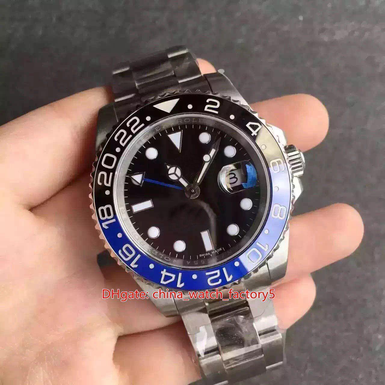 BP Maker Top Qualitätsuhren 40mm GMT Batman 116710 116710BLNR Keramik Asien 2813 ETA 2836 Cal.3186 Bewegung Mechanische automatische Herrenuhr Herren Armbanduhren