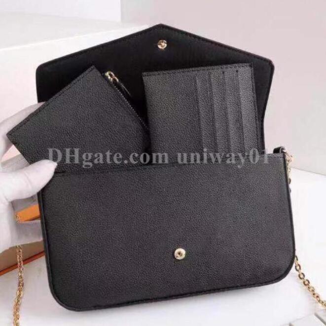 حقيبة يد المرأة حقيبة محفظة مخلب جلد طبيعي مربع الأصلي جودة عالية رمز التاريخ الرقم التسلسلي زهرة