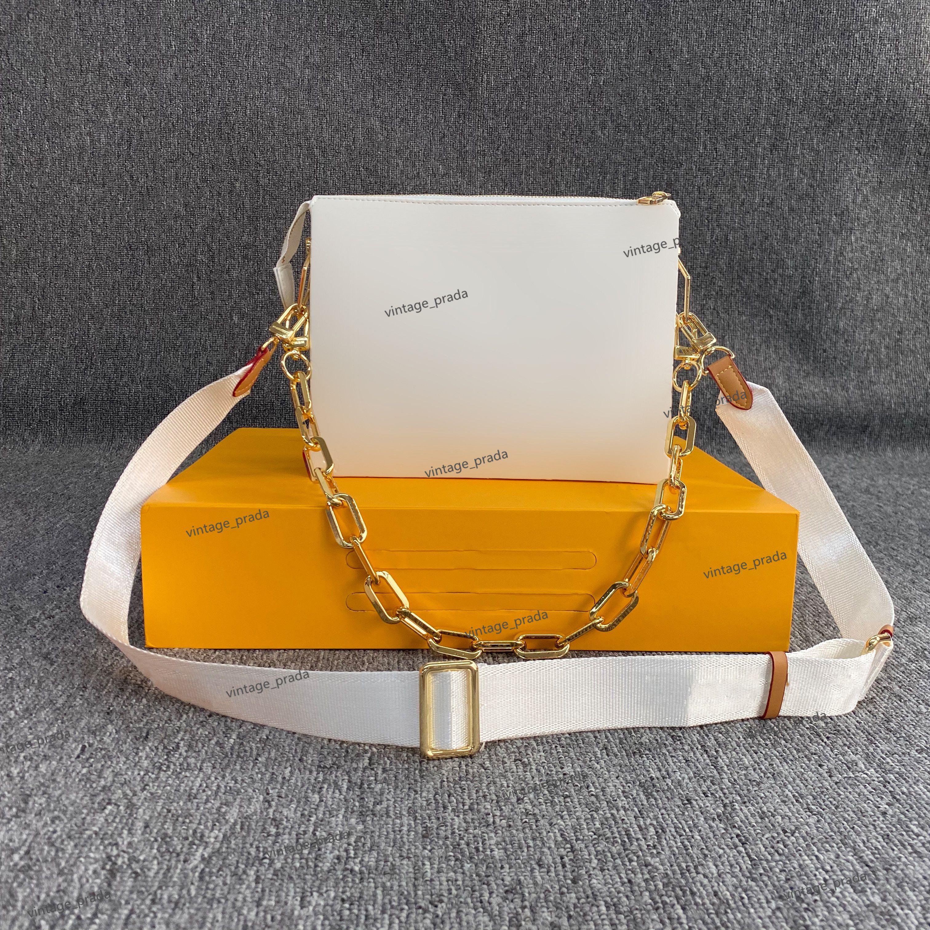최고 품질의 정품 가죽 Coussin 여성 남성 Tote Crossbody Bags 럭셔리 디자이너 Mylon 패션 쇼핑 지갑 카메라 케이스 카드 포켓 핸드백 숄더 백