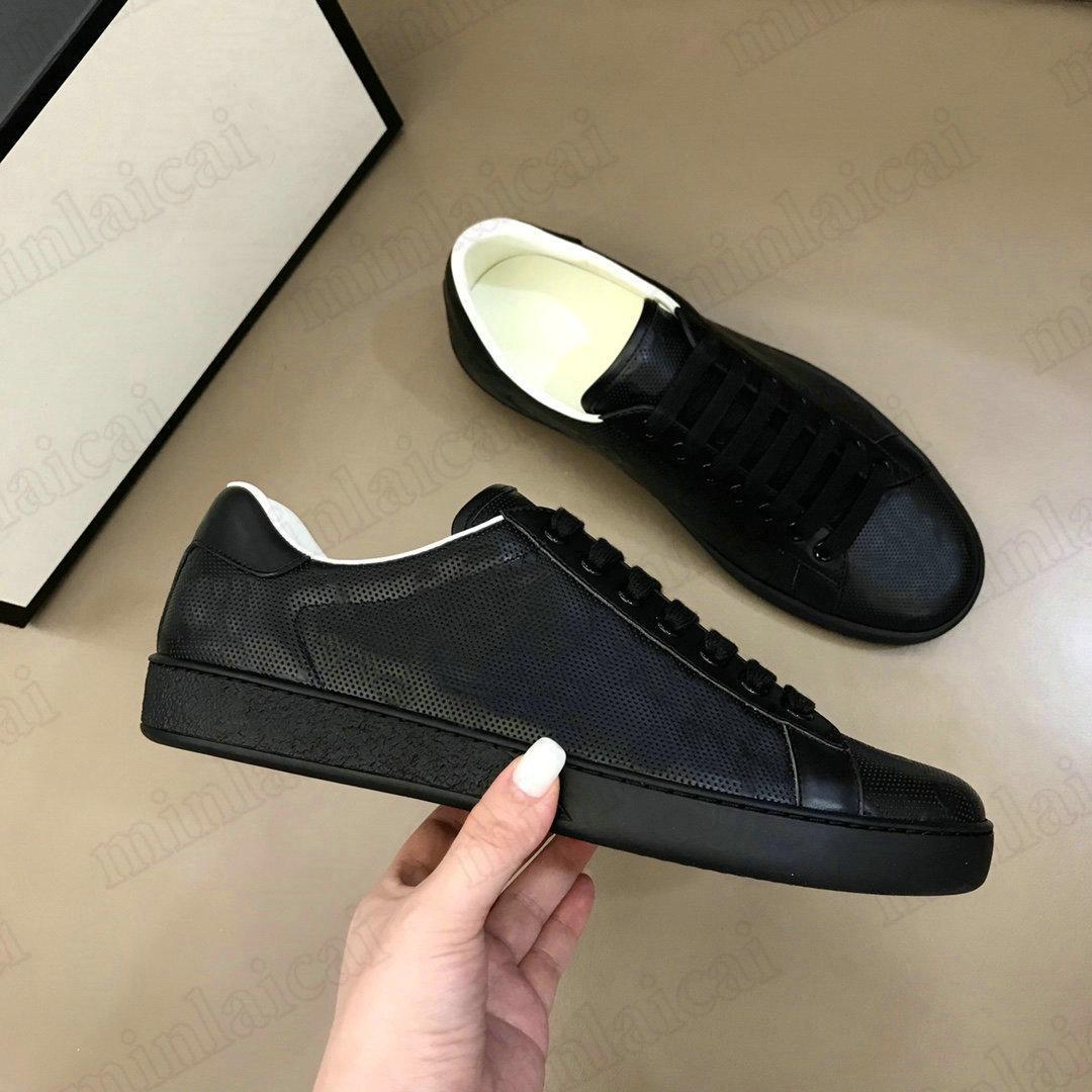 Herren Ace geprägte Logo Sneaker mit ineinandergreifenden Schuhen Designer Italien Marke Mesh Leder Trainer weiße Turnschuhe Stickerei Streifen Freizeitschuh für Männer