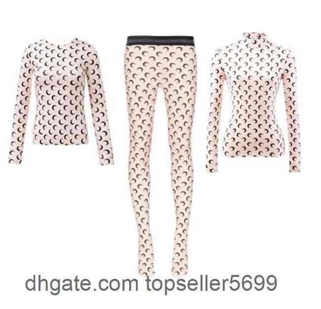 2021 연인 셔츠 해양 Serre 여성 세트 레깅스 캐주얼 T 셔츠 긴 소매 참깨 Street L 패션 티셔츠 티 티 탑스 품질 Femme