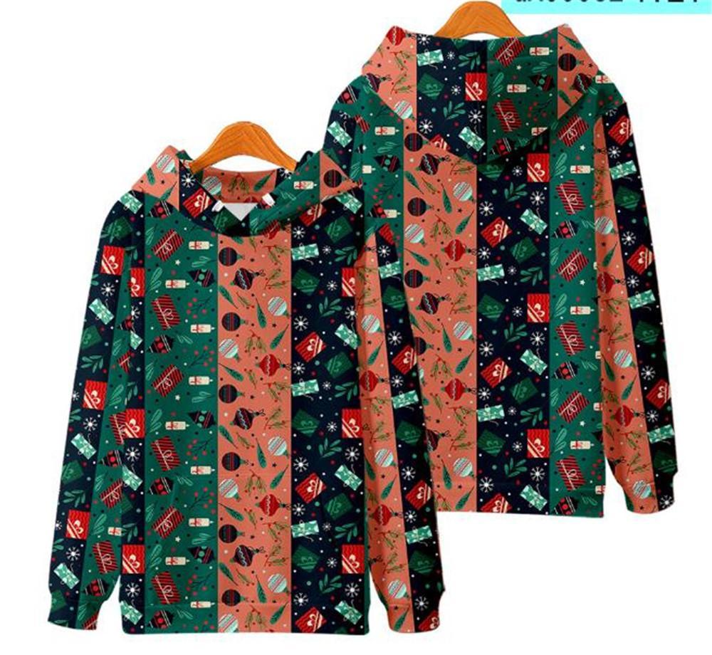 Hoodies Weihnachten mit Hoodie in der Norm Plus Size Winter-Paar-Kleidung