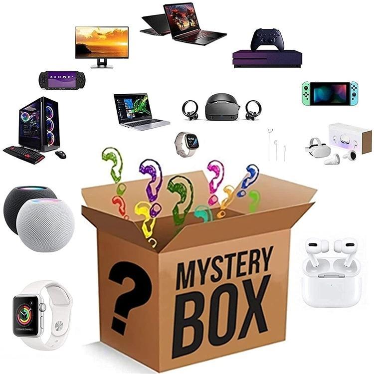 Mystery Box Electronics, scatole casuali, compleanno a sorpresa favori, fortunato per il regalo degli adulti, come droni, orologi intelligenti-L298