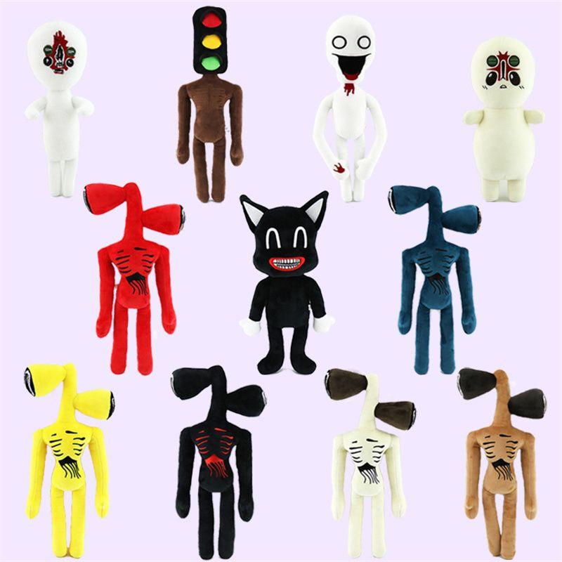 Le ultime 11 tipi di 11 tipi Prodotto transfrontaliero Siren Head Peluche Giocattolo Bambole Black Cat Doll Whistle Uomo Regalo di Natale