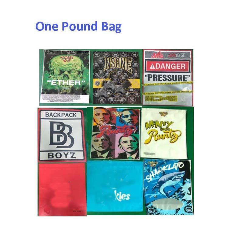 Boypack Boyz One Pound Runtz Jungle Boys Resealable Smell Proof أكياس 420 التعبئة والتغليف Mylar 1LB