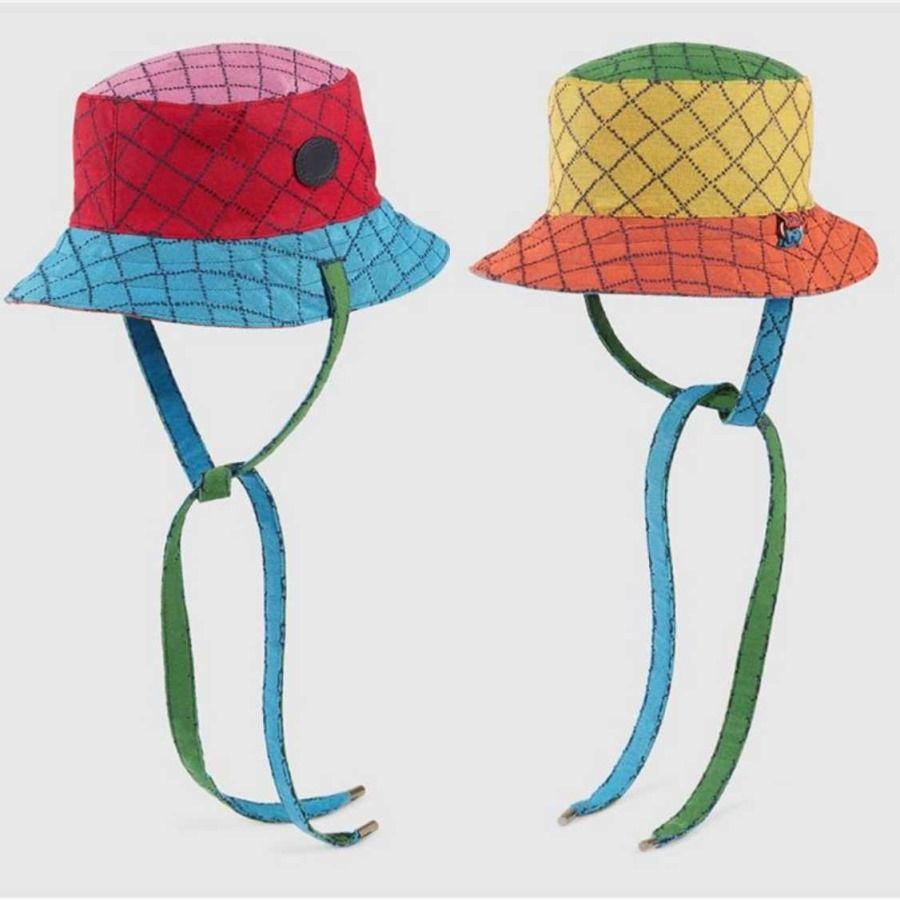 2021 Multicolor Sun Eimer Hut Frauen Männer Hüte Luxurys Designer Mützen Hüte Mens Bonnet Beanie Cappelli Firmati Doubleg 653857