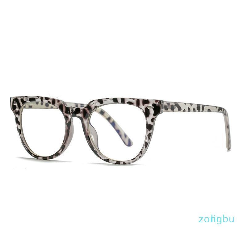 Fashion Sunglasses Frames Eyeglasses Frame Spectacle Cat Eye Glasses Styling Leopard Women Brand Anti Blue Computer Eyewear
