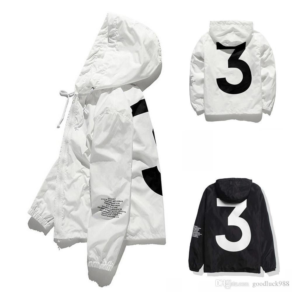 2021 Top Venda Alta Qualidade Mens Kanye West Jacket Hip Hop Temporada Windbreaker Moda Designer Casacos Yeezy Homens Mulheres Streetwear Outerwear Casaco
