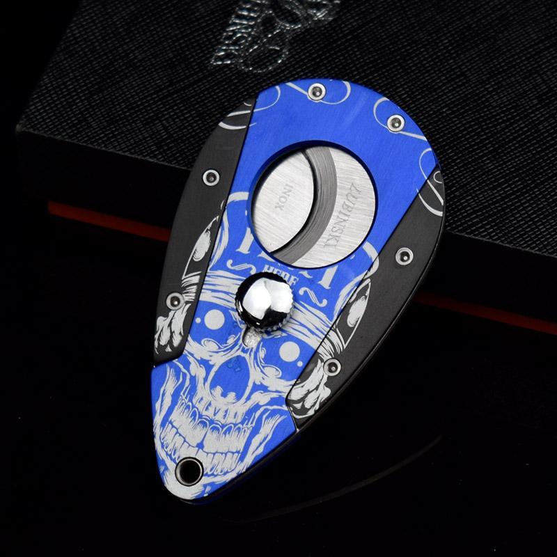High Grade Biżuteria Projekt Metaliczny Ze Stali Nierdzewnej Cygara Cygarek Nożyce Nożyce Cygaro Akcesoria z pudełkiem