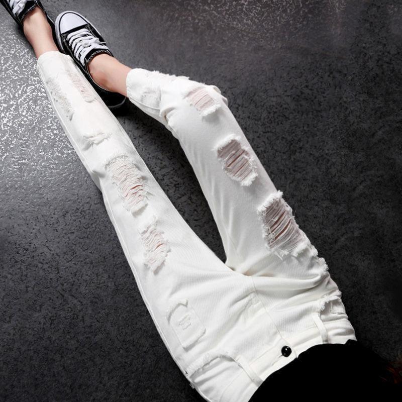 Pantaloni Jeans donna Pantaloni Bianco Beales Broks Pantaloni Donne Primavera Pantaloni in vita alta VAQUEROS MUJER