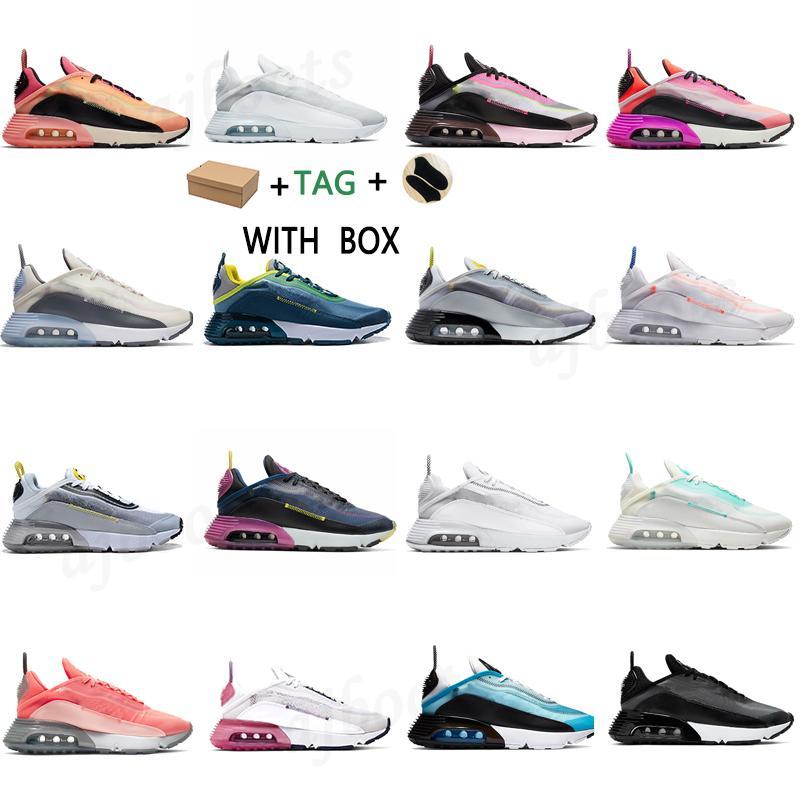 2021 남성 여성 2090 실행 신발이 진정한 순수한 백금 브러시 스트로크 트리플 블랙 화이트 크림슨 레이서 레이저 블루 망 트레이너 스포츠 스니커즈 크기 36-45