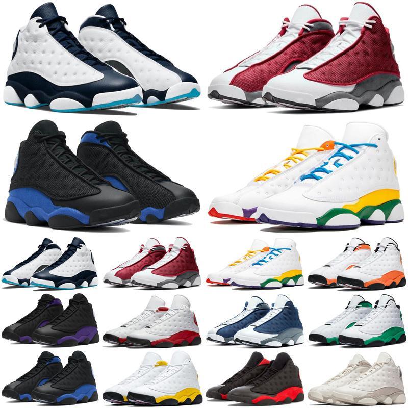 13 ans Hommes Chaussures de basketball Obsidian Rouge Flint Court Purple Del Sol Hyper Royal Gold Glitter Chicago Baskets Sports Sporteurs Sports Taille 7-13
