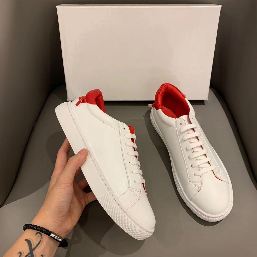 XZ001 5 ألوان الكلاسيكية زوجين الدانتيل يصل عارضة أحذية للرجال النساء الأحذية الرياضية البيضاء مع مربع التجزئة حجم 34-44