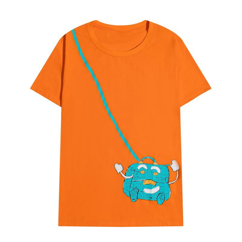 2021SS 탑스 100 % 코튼 망 셔츠 Womens 패션 T 셔츠 크기 S-XLL 정확한 인쇄 귀여운 어깨 가방 티셔츠