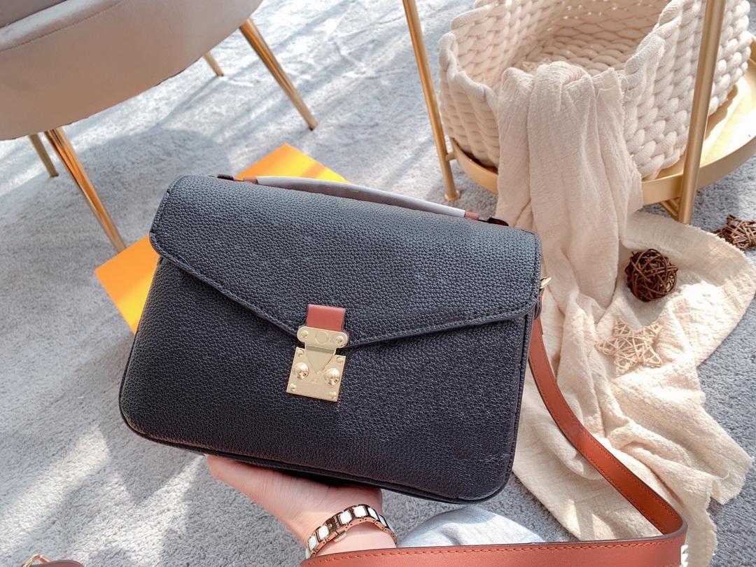 Textura de alta qualidade de lichi gravado Bolsa de ombro bolsa bolsa bolsa sacola de compras moda homem clássico homens e mulheres carteira # 15