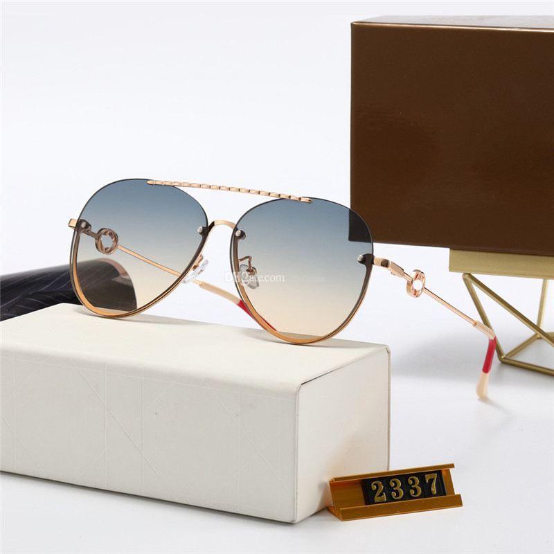 2021 الفاخرة أعلى جودة العلامة التجارية جولة الوردي مصمم نظارات للنساء معدن نظارات الشمس 2237 رجل uv400 مصممي التدرج نظارات الإناث