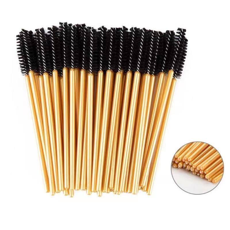 Bonne qualité jetable 50 pcs / pack crystal cils maquillage brosse diamant poignée de mascara wands extension outil brosses