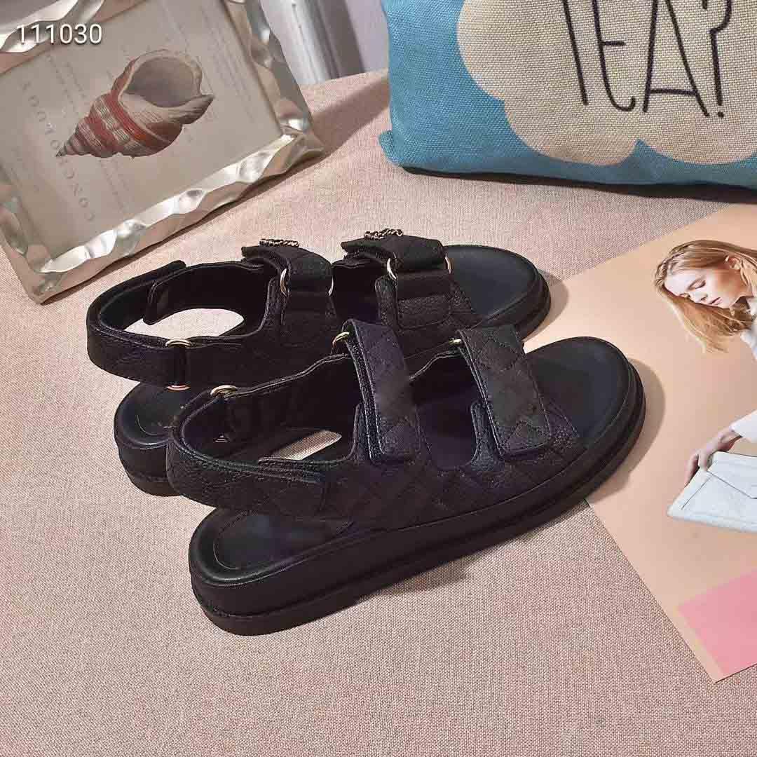 Sandálias planas de couro macio para meninas verão casual velcro sapato plano para jeans de praia ao ar livre preto azul jeans sandálias de lona 35-40